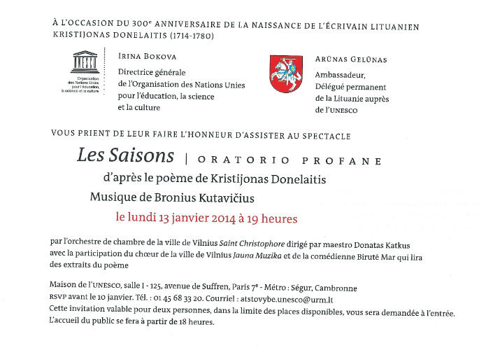 Invitation UNESCO